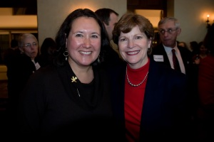 Shirley Sagawa and Senator Jeane Shaheen