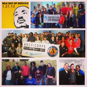 Alums across the country serving on MLK Day!