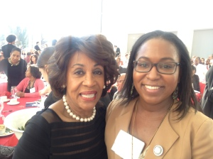 Bethany Hamilton with Maxine Waters at America's Sunday Supper