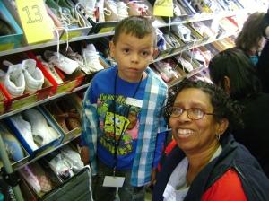 Brandon Greene's mother in service