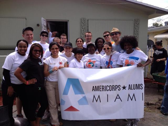 Miami AmeriCorps Alums served on Neighborhood Housing Services of South Florida (NHSSF)'s 9th Annual Community Paint and Beautification Day during AmeriCorps Week.
