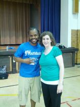 Jamiel Alexander, YouthBuild USA National Alumni Council President, and Lisa Shipley, President of the Indianapolis Chapter of AmeriCorps Alums