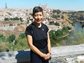 Teresa Palomo Acosta visiting Spain, September, 2013