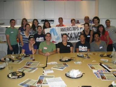 DC AmeriCorps Alums Chapter during its recent service project/grad school professional development event