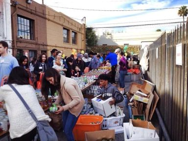 L.A. Chapter members pack boxes for Big Sunday