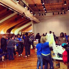One of their many projects for 2014 MLK, Jr. Day, The Connecticut Chapter helped organize a clothing drive.