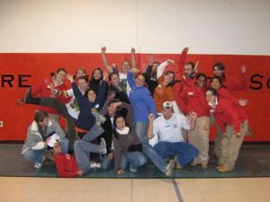 Mary Bruce, AmeriCorps Alums Co-Executive Director, leading  service project in Philadelphia Public Schools