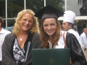 Emily Burkhardt at Wagner College's Graduation