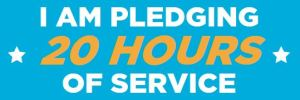 Live the Pledge, Serve 20 Hours This Summer!