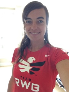 Birte now officially a Team RWB member, DC, 2014