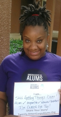 "Keshia Bruno says ""AmeriCorps taught me meaningful service."""