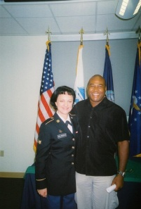 Michael with his wife, active duty US Army SPC Sarah A. Gill-Branion