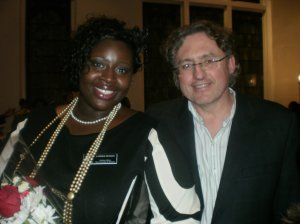 Latrice Dudley, University of Alabama Student Coordinator of Programs with Dean Jim Hall