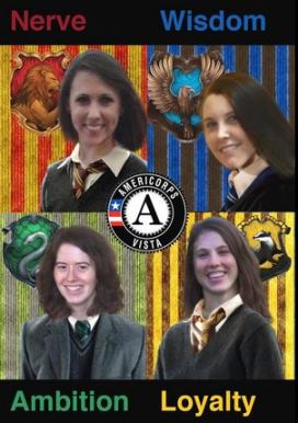 Lexie posts a fun recommendation on Twitter for AmeriCorps members to merge traits from all of the Hogwarts houses!