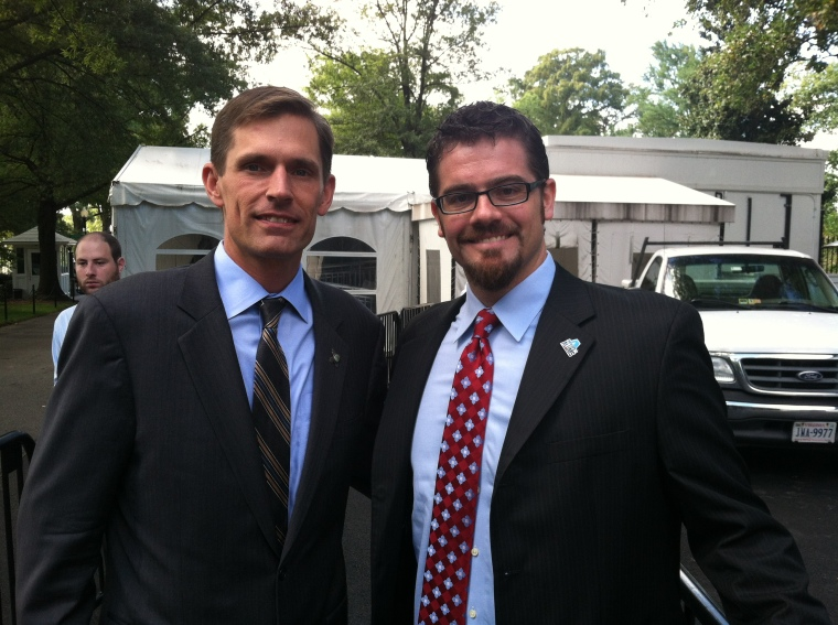 AmeriCorps Alums Co-Executive Director, Ben Duda, and Senator Martin Heinrich