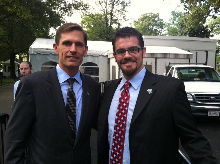 AmeriCorps Alums Co-Executive Director, Ben Duda, and Senator Martin Heinrich