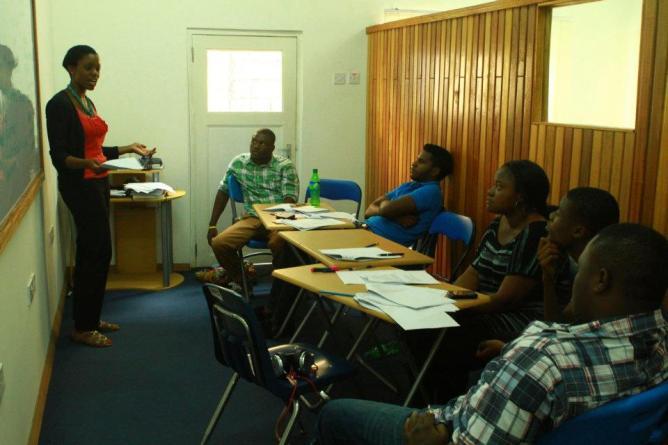 Leah's classroom in Ghana