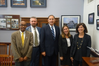 Team Arkansas along with Senator Boozman! Can you see our excitement?