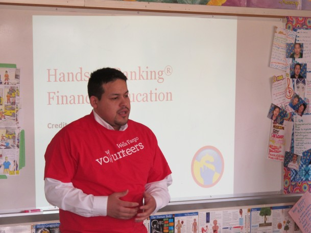 Wells Fargo volunteers providing financial education
