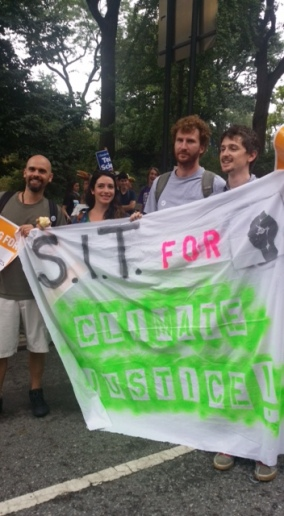 Caitlyn with a group attending the DC Climate March. Photo Credit: Lehua McClung