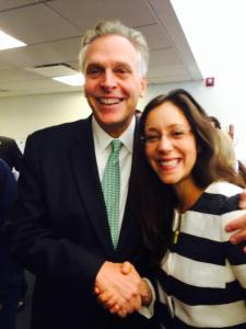 AmeriCorps Alums Co-Executive Director with Governor McAuliffe