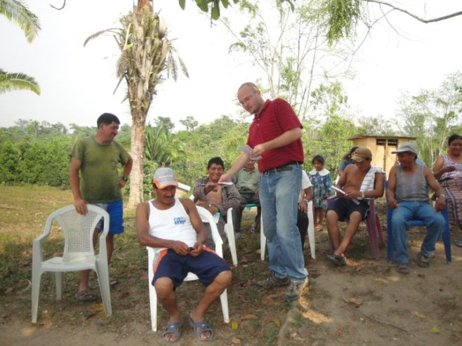Nick at a community training in Alta Verapaz, Guatemala
