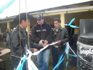 At the inaguaration of a safe water delivery project, in Huehuetenango, Guatemala