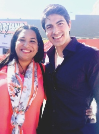 Dr. Dayna Long with Brandon Routh, national service champion and actor currently starring on Arrow.