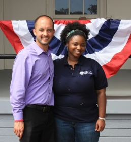 Kevin with a currently serving AmeriCorps VISTA during the 20th anniversary of AmeriCorps celebration