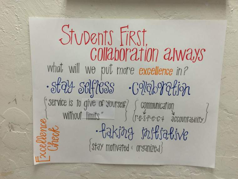 Students first sign