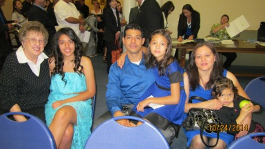 Students and their families at at U.S. Citizen Swearing-In Ceremony