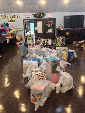 Rachelle was pleasantly surprised that here second large in-kind campaign of the year, a Holiday Toy Drive received just as much community support as the Back-to-school drive.