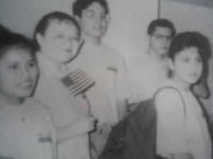 William with fellow Class 1 AmeriCorps members from his team.