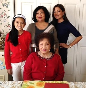 Joyce (far upper-right) with her daughter, mother and grandmother.