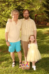 Matthew with his father and his daughter