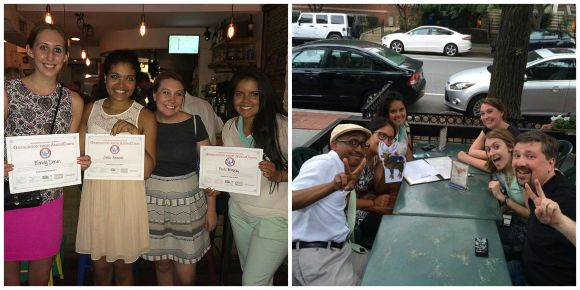 AmeriCorps Alums DC Chapter Shows off Ameri-Dipomas at Happy Hour!