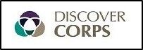discover corps logo with border