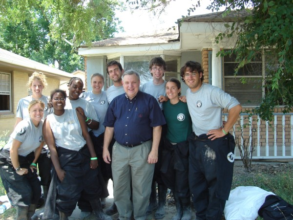Sandy with her AmeriCorps NCCC team, Fire 3 in St. Bernard Parish, LA
