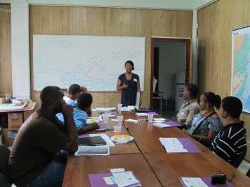 Andrea conducting a leadership development training
