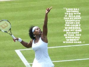 serena williams with quote