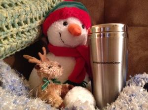 Mug with snowman