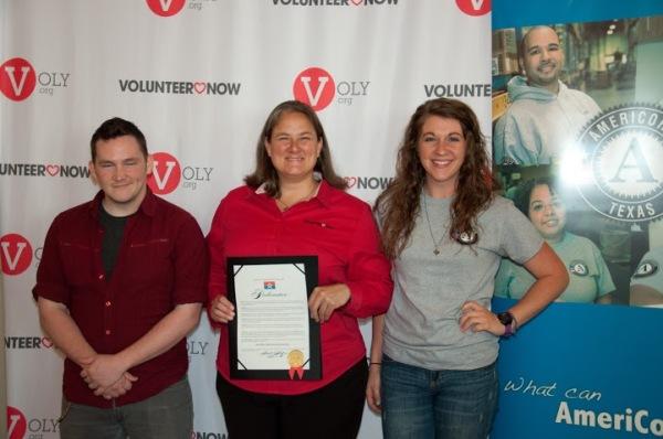 Lisa tatum with volunteer now ready corps members