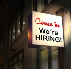 we are hiring sign small for blog