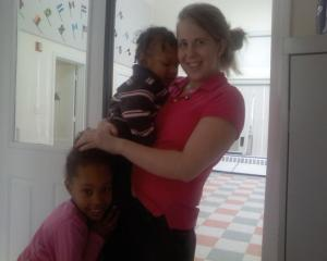 Emily with Jahnea and Jahnea's baby brother